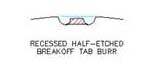 Recessed-Half-Etched-Tab